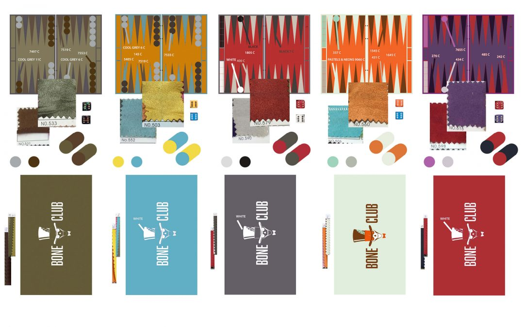 New BoneClub olympic backgammon boards palettes released
