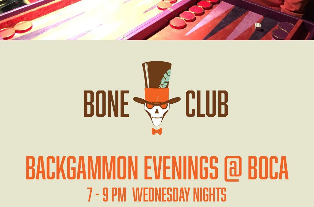 Bone Club backgammon meets at Boca in Poulton-le-fylde, Lancashire on Wednesday nights