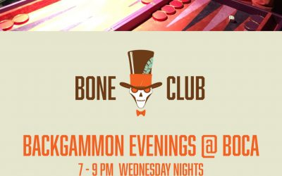 Bone Club backgammon meets at Boca in Poulton-le-fylde, Lancashire on Wednesday nights