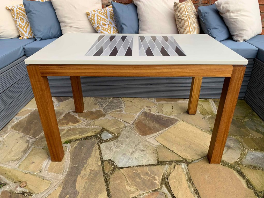 gallagher outdoor corian backgammon table